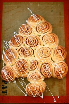 Christmas Tree Rolls - These are mildly sweet rolls crackling with cinnamon sugar and perfect for Christmas.