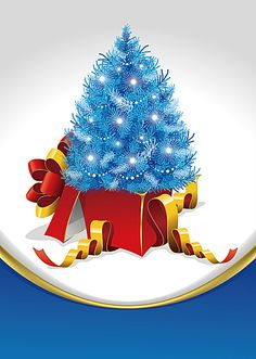 Christmas gift boxes blue pop background, Blue Christmas Tree, Gift, Merry Christmas, Background image