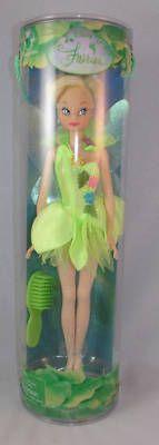 """Disney Store Tinker Bell 11"""" Doll in Tube Peter Pan Barbie Retired   eBay"""