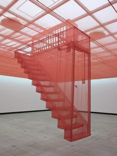 Do-Ho Suh Installation Do-Ho Suh is an artist who lives and works in New York City. Yesterday I visited the Tate Modern where one of Do-Ho Suh's Staircase is currently exhibited. Office Light, Rachel Whiteread, Do Ho Suh, Stair Art, Hayward Gallery, Instalation Art, False Ceiling Design, Objet D'art, Oeuvre D'art