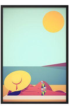 Affiche J'adore le Soleil - The Stanley Chow Print - Visuel 1