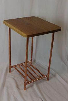 Copper Pipe Furniture copper pipe plant stand and table industrialplankandpipe