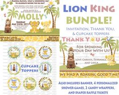 ULTIMATE Lion King Baby Shower Bundle Print by ChrispixsCreations