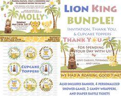 ULTIMATE Lion King Baby Shower Bundle- Print At Home DIGITAL FILES on Etsy, $35.00