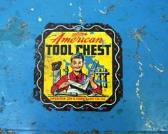Vintage Toy Toolbox American Tool Chest Rusty by CalloohCallay, $24.00