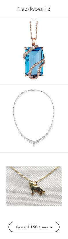 """""""Necklaces 13"""" by thesassystewart on Polyvore featuring jewelry, necklaces, rose gold, gold necklace pendant, 14 karat gold necklace, 14k gold necklace, yellow gold diamond necklace, gold necklace, accessories and joias"""