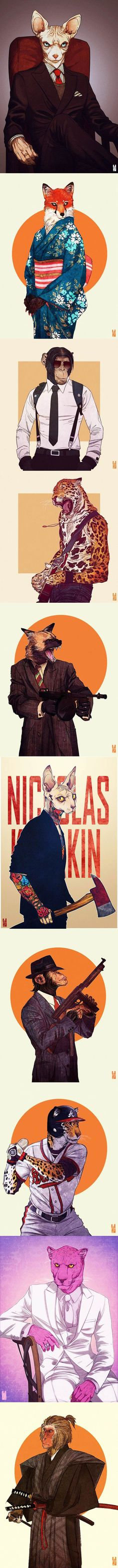 "The fabulous illustrations set ""Anthros"" of Kim Nguyen (Vietnam) aka Zarnala. Bd Cool, Awesome Art, Cool Art, Fun Cup, Drawing Base, Art Reference, Einstein, Laughing, Vietnam"