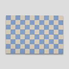 Blue Checkers 602 Encaustic Cement Tile | Otto Tiles & Design - Encaustic, Moroccan and Terrazzo Cement Tiles
