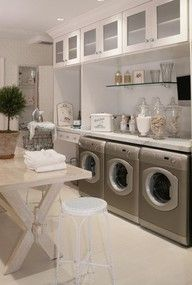 Wow! What an impressive laundry room!