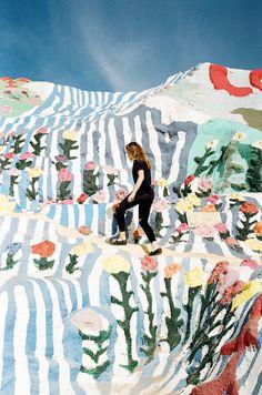 wall flowers | Salvation Mountain