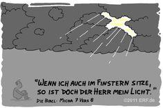 """""""#Jerusalem sagt: »Sei nicht so #schadenfroh, du #Feindin meines #Volkes! Ich liege am #Boden, aber ich #stehe wieder auf; ich sitze im #Dunkeln, aber der #Herr ist mein #Licht."""" #Micha7:8 #glaubensimpulse"""