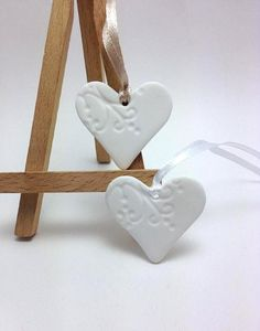 Wedding Favors Wedding Decorations Heart Tags by JosCreationsGR