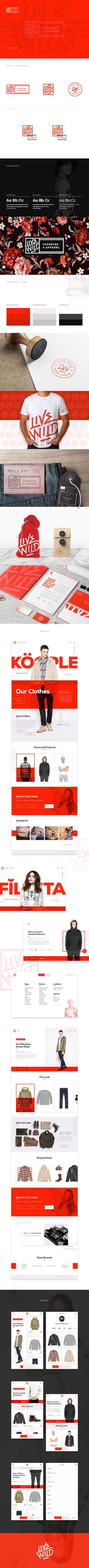 Live Wild Clothing & Apparel Branding & UI
