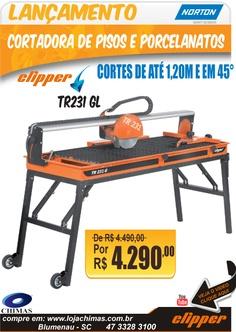 Máquina Clipper TR231 Gl cortes de até 1,20m