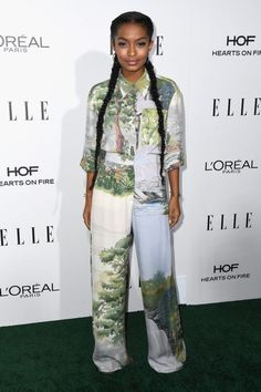 Look of the Week featuring Yara Shahidi in Stella McCartney, Queen Latifah in Christian Siriano, Naomi Campbell in Ralph & Russo and More!