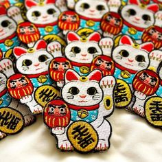 #Repost @studio_marimo  Lucky Cat / Maneki Neko patches! . marimobuttons.etsy.com . #studiomarimo #patchgame #patch #patches #embroidery #flair #cat #cats #etsy #etsyshop #neko #luckycat #manekineko    (Posted by https://bbllowwnn.com/) Tap the photo for purchase info.  Follow @bbllowwnn on Instagram for great pins patches and more!