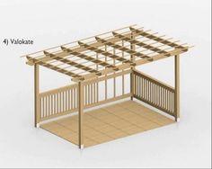Pergolan rakennusohje  Animaatio Puuinfo Pergola by DigiPeople