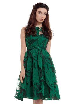 4a30328012 Voodoo Vixen Maggie Dress Emerald Green 50s PinUp Rockabilly Swing Dita S-XL