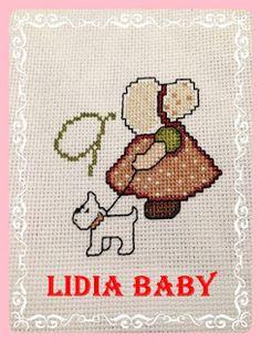 Sunbonnet sue de regalo | Punto de cruz - Bordando con Lidia