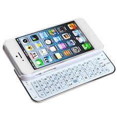 Back-light Slide-Out Bluetooth Keyboard Case for iPhone 5/5S