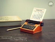 How sweet! SALE 2014 DIY Printable Paper Desk Calendar  by SkyGoodies on Etsy, $4.99