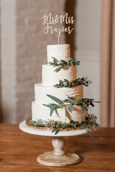 4 tier wedding cake // Romantic Winter Wedding by Audrey Rose Photography