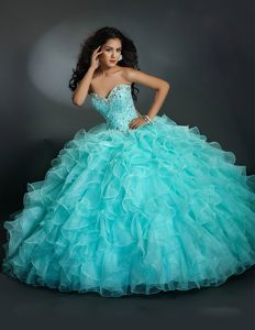 New aqua blue quinceanera dresses ball gown 2016 sweetheart ...