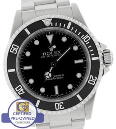 #Men's rolex submariner #no-date #14060 m oyster black stainless 40mm dive watch,  View more on the LINK: http://www.zeppy.io/product/gb/2/301977190848/