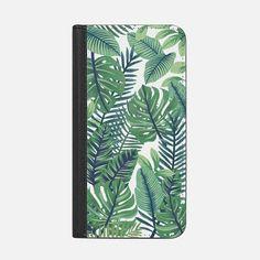 Casetify iPhone 8 Plus Wallet Case - Green jungle floral on transparent background by Marta Olga Klara