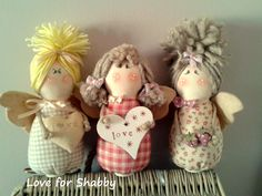 Best 12 Love for Shabby: aprile 2015 – SkillOfKing. Sewn Christmas Ornaments, Angel Ornaments, Handmade Baby Gifts, Handmade Toys, Felt Dolls, Doll Toys, Felt Angel, Angel Crafts, Sewing Dolls