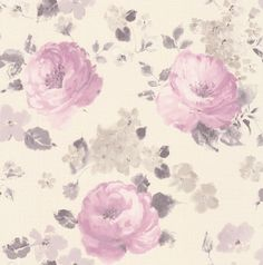 Rose Floral Pink / Clover wallpaper by Albany