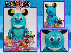 """Admyer- Sulley as a pinata on a 9""""vinylmation and BoO on a 3"""" vinylmation. Monsters Inc."""
