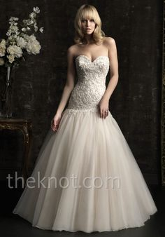 8952 Allure Bridal gown. I love the top of the dress, I just wish it had a natural waist instead of a dropped waist.