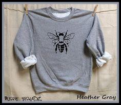 BEE. Save the Bees Unisex 50/50 Sweatshirts .Women Mens