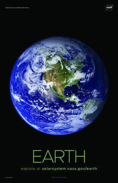 A selection of awe-inspiring NASA Earth posters, printed on premium satin paper. Solar System Poster, Space Solar System, Solar System Exploration, Space Exploration, Planet Pictures, Nasa Pictures, Nasa Photos, Andromeda Galaxy, Orion Nebula