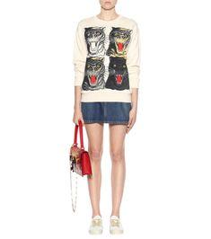 Gucci Hoodie Tiger Face printed cotton sweatshirt - https://pandorafashion.com.br/product/gucci-tiger-face-printed-cotton-sweatshirt/
