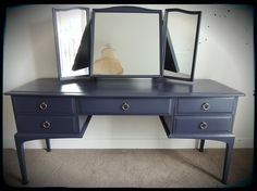 VINTAGE  Stag Minstrel Dressing Table by SuedeLounge on Etsy