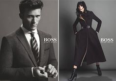 Edie Campbell & Scott Eastwood for Hugo Boss Fall Winter 2014-2015 Campaign | FashionMention
