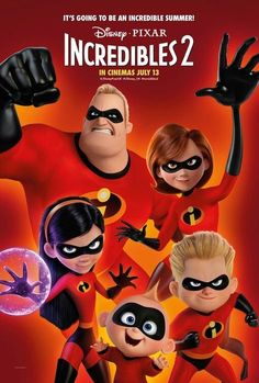 Disney Incredibles, Incredibles 2 Poster, 2018 Movies, Movies Online, Disney Movie Posters, Disney Pixar Movies, Movies To Watch, Good Movies, Film Watch