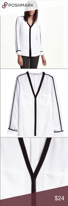 H&M Premium blouse Gorgeous Double layered top. Button front closure with a pocket on the front. H&M Tops Blouses