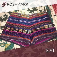 Billabong tribal shorts Billabong tribal shorts, zipper on side. Worn once Billabong Shorts