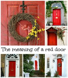 What does having a red door mean | Doors, Front doors and House