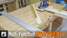 This is the second video in the multi-function workbench series. In this video I'm going to install the benchtop and make the cutting station.
