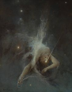 "scribe4haxan: "" Falling Star (1884 - Oil on canvas) - Witold Pruszkowski """
