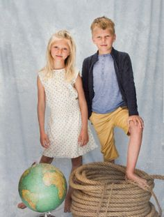 siblings, girl, boy, dress, vintage style,   cuties, kids, children, nostalgia, lace, knit, organic, memini, children's wear, kids style, kids fashion, sailor, sailboat, yellow, ochre