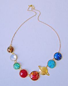 Image of Perfect Alignment Solar System Necklace