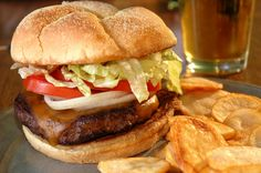 The Beer Marinated Burger