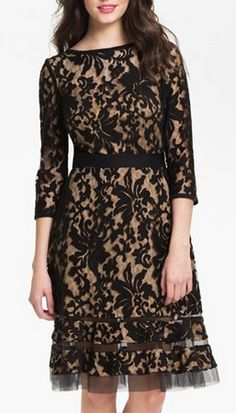 Gorgeous lace overlay dress