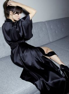 Find yourself a spa robe to slip into. Or a deliciously silky one. (I prefer the silky ones.)  *Belle de Nuit Silk Robe