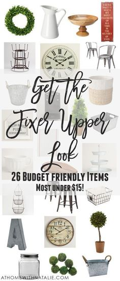 Get the Fixer Upper Look 26 Budget Friendly Items 2019 farmhouse style decor on a budget some really great resources! The post Get the Fixer Upper Look 26 Budget Friendly Items 2019 appeared first on House ideas. Magnolia Farms, Magnolia Homes, Magnolia Market, Farmhouse Style Decorating, Farmhouse Chic, Farmhouse Plans, Farmhouse Decor Cheap, Urban Farmhouse, Farmhouse Remodel